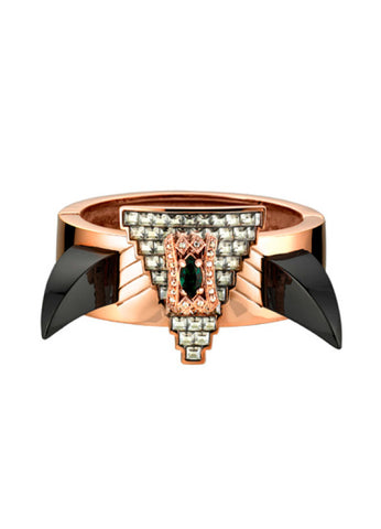 Deco Fang and Prism Bangle, Rosegold