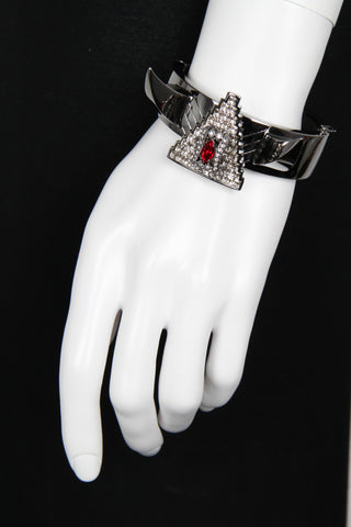 Deco Fang and Prism Bangle, Hematite