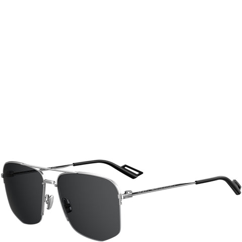 Dior Homme 180 Sunglasses, Palladium/Black