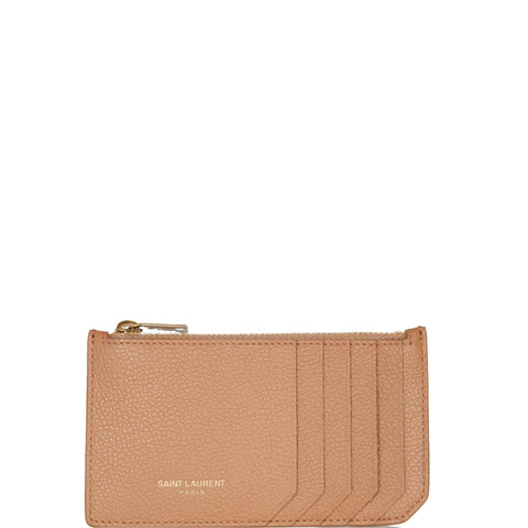 Fragments Zip Card Holder Grained, Dune/Bronze