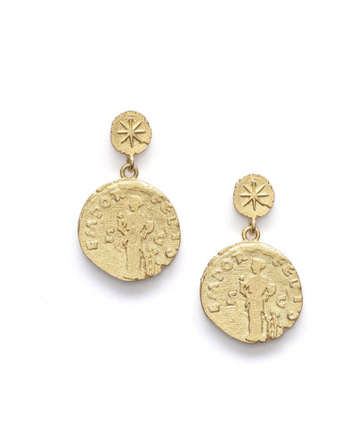 Coin Earrings, Gold