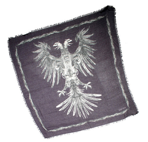 Heraldry Eagle Pashmina, Purple