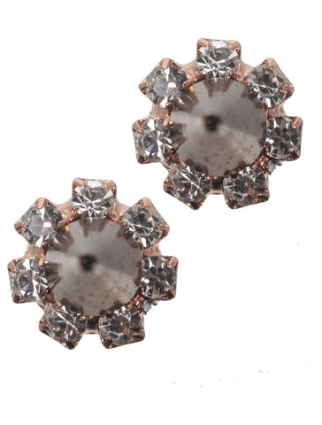 Crystal Stud Earrings w/Spikes