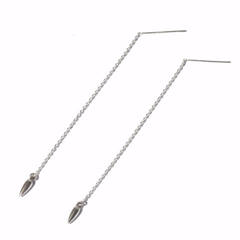 Suspension Ear Threads, Silver