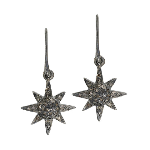 Sun Diamond Earrings (pair)