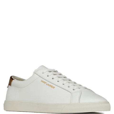 Andy Sneakers Gold Tab, White/Gold