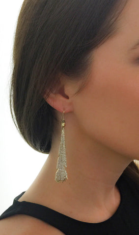 Plume Earrings, Gold