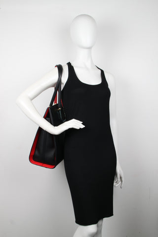 The Tall Story Tote, Black/Red
