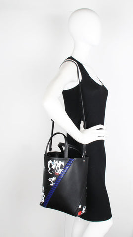 PS Hex Tote Floral Print, Black Mix