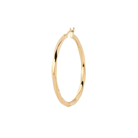 Francisca 30 Hoop Earring, High Polish Gold