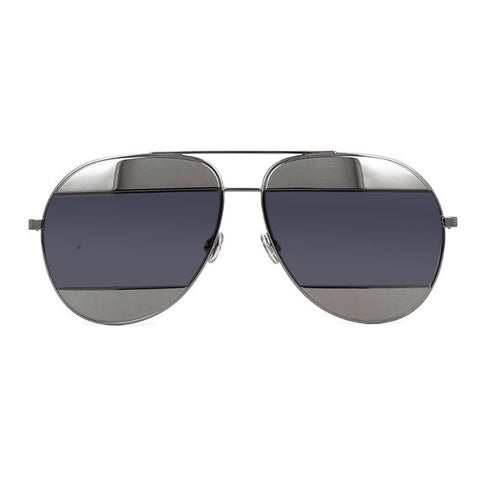 Dior Split Sunglasses, Gunmetal/Grey