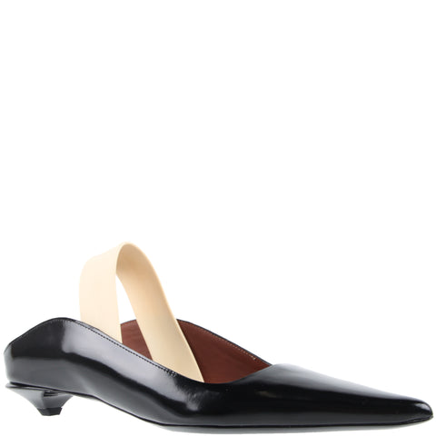 Slingback Wave Pump Glossy calf, Black