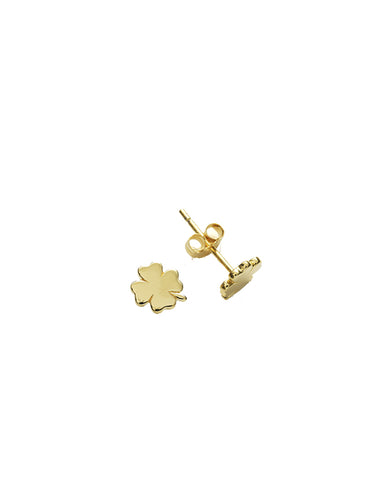 Clover Studs (Pair), Gold