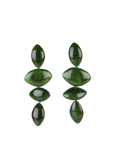 Ida Earrings, Malachite