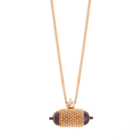 Jungle Julia Necklace Rosegold/Purple