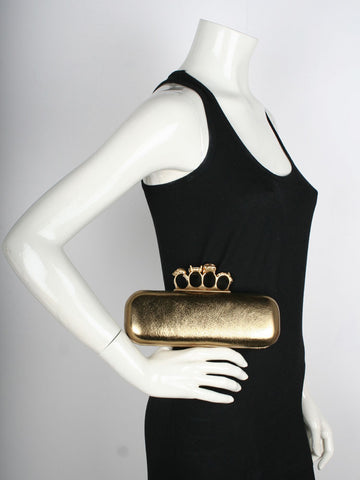 Knuckle Box Clutch, Gold