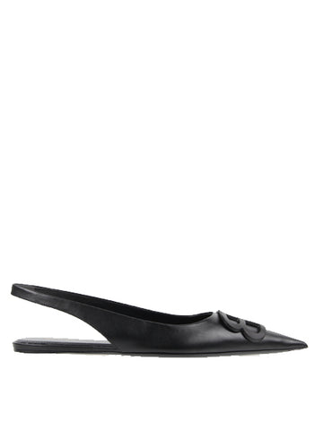 BB Flat Slingback Calf, Black