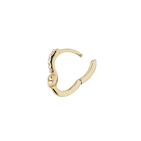 Lips Huggie, 14k Yellow Gold
