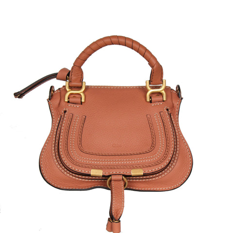 Marcie Mini Top Handle, Muted Brown