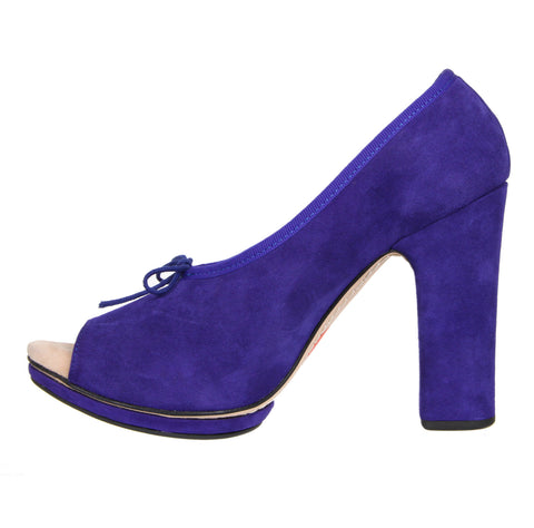 Mila Block Heel, Purple