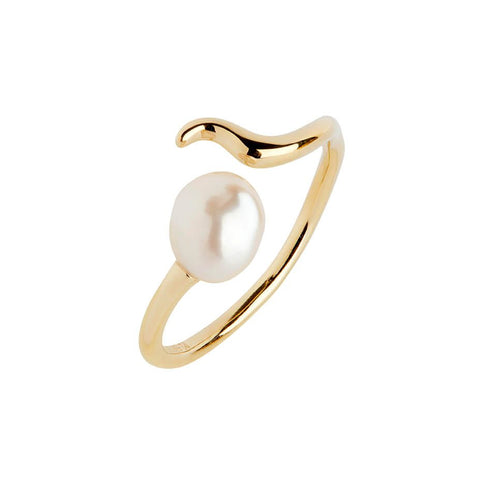 Moon Shine Ring, Gold