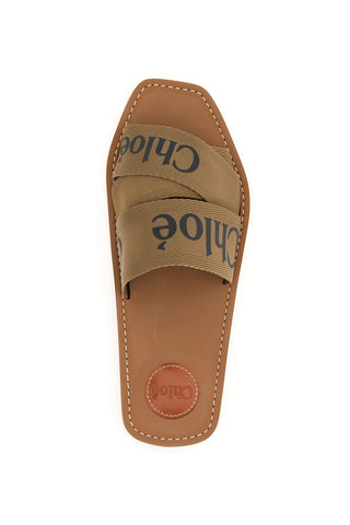 Woody Logo Slide, Grove Brown