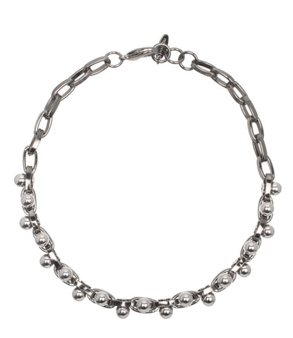 Double Row Choker w/Spheres, Ruthenium