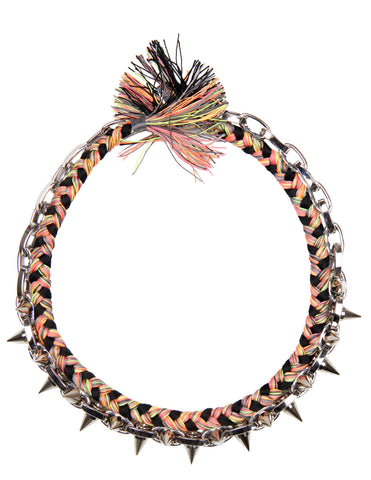 Punk Carnival Braided Necklace Black
