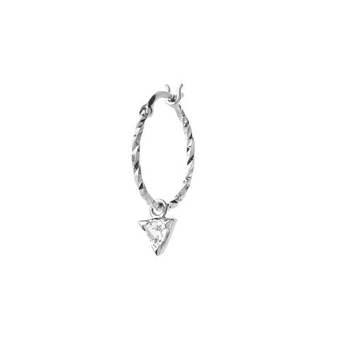 Vidi Hoop Earring, 14k White Gold