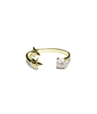 Orion Ring Gold, Pearl