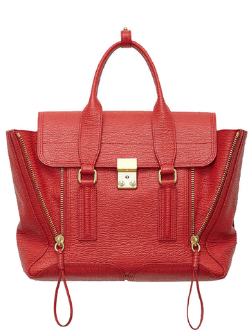 Pashli Medium Satchel, Red
