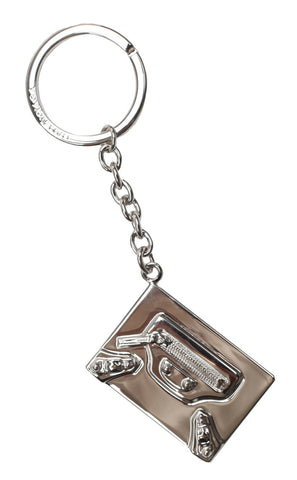 Metal Key Ring, Plaque Silver