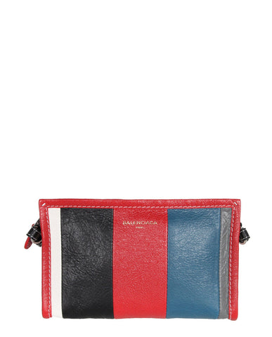 Bazar Cross Body Pouch, Red/Blue