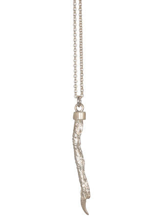 Pukeho Claw Large Necklace, Silver