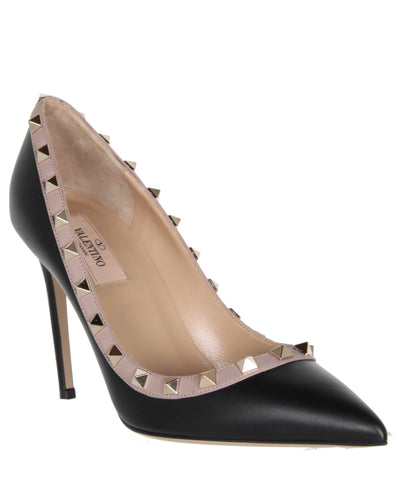 Rockstud Pump 105 Leather, Black