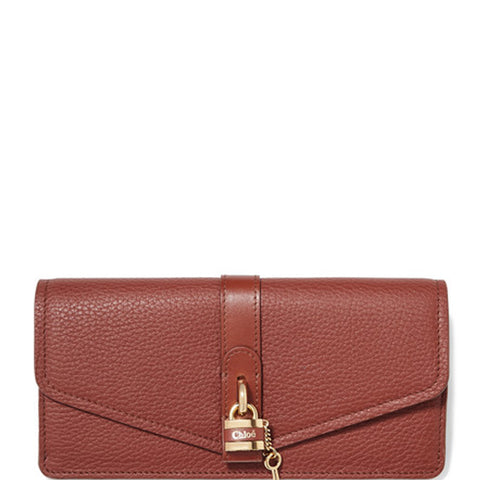 Aby Long Flap Wallet, Sepia Brown