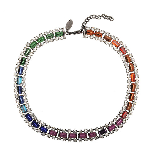 Necklace Multi Crystal