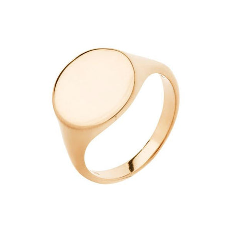 Ready Heart Ring, High Polished Gold