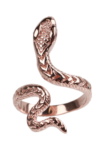 DICE SNAKE RING Rose gold