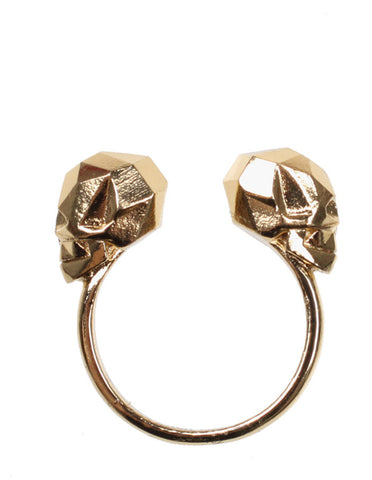 Baroque Punk Skull & Spike Ring Set