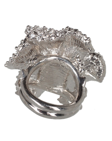 Flower Ring, Silver