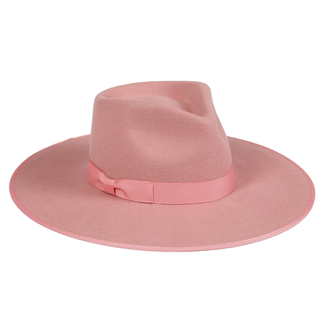 Rancher Wool Hat, Rose Pink