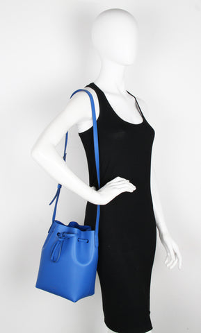 Bucket Bag Mini Calf, Royal/Royal