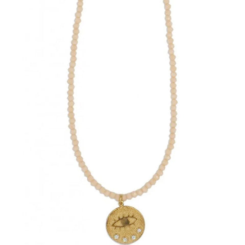 Kressida Crystal Necklace, Gold