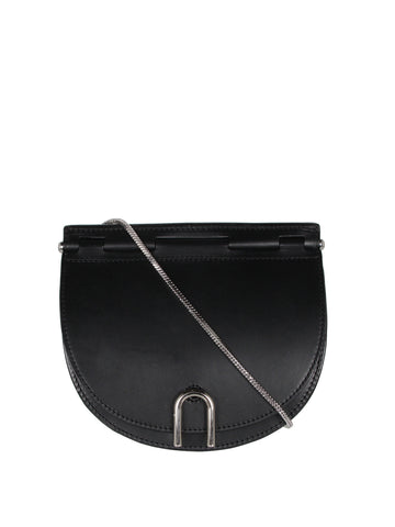Hana Saddle Chain Bag, Black