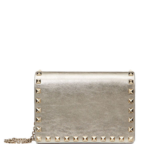 Chain Square Pouch Metallic, Sahara