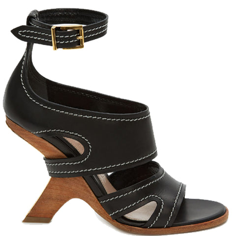 Wood Heel Ankle, Black