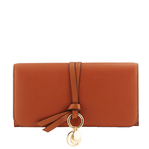 Alphabet Flap Wallet, Tan