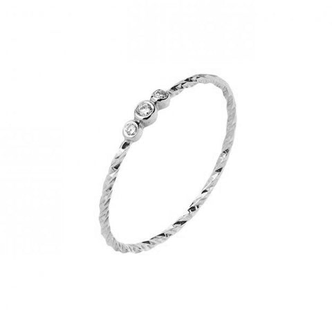 Jessa 3 Ring, 14k White Gold