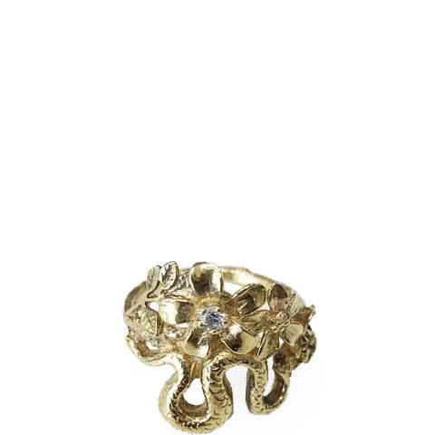 Original Sin Snake & Flower Ring